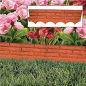 Red Brick Wall Garden Border Edging