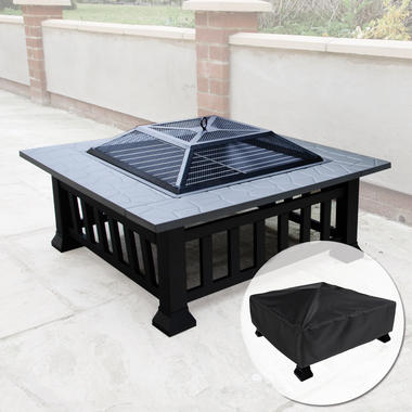 Square Fire Pit with Cover - KCT