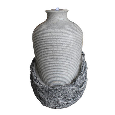 Velda Victoria Vase on Rock Outdoor Water Feature