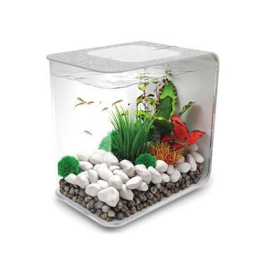 BiOrb Flow 15L Silver Aquarium with Standard LED Lighting + FREE Service Kit