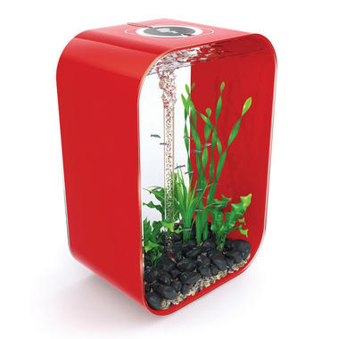 BiOrb Life 60L Chilli Red Aquarium with Intelligent LED Lighting + FREE Service Kit