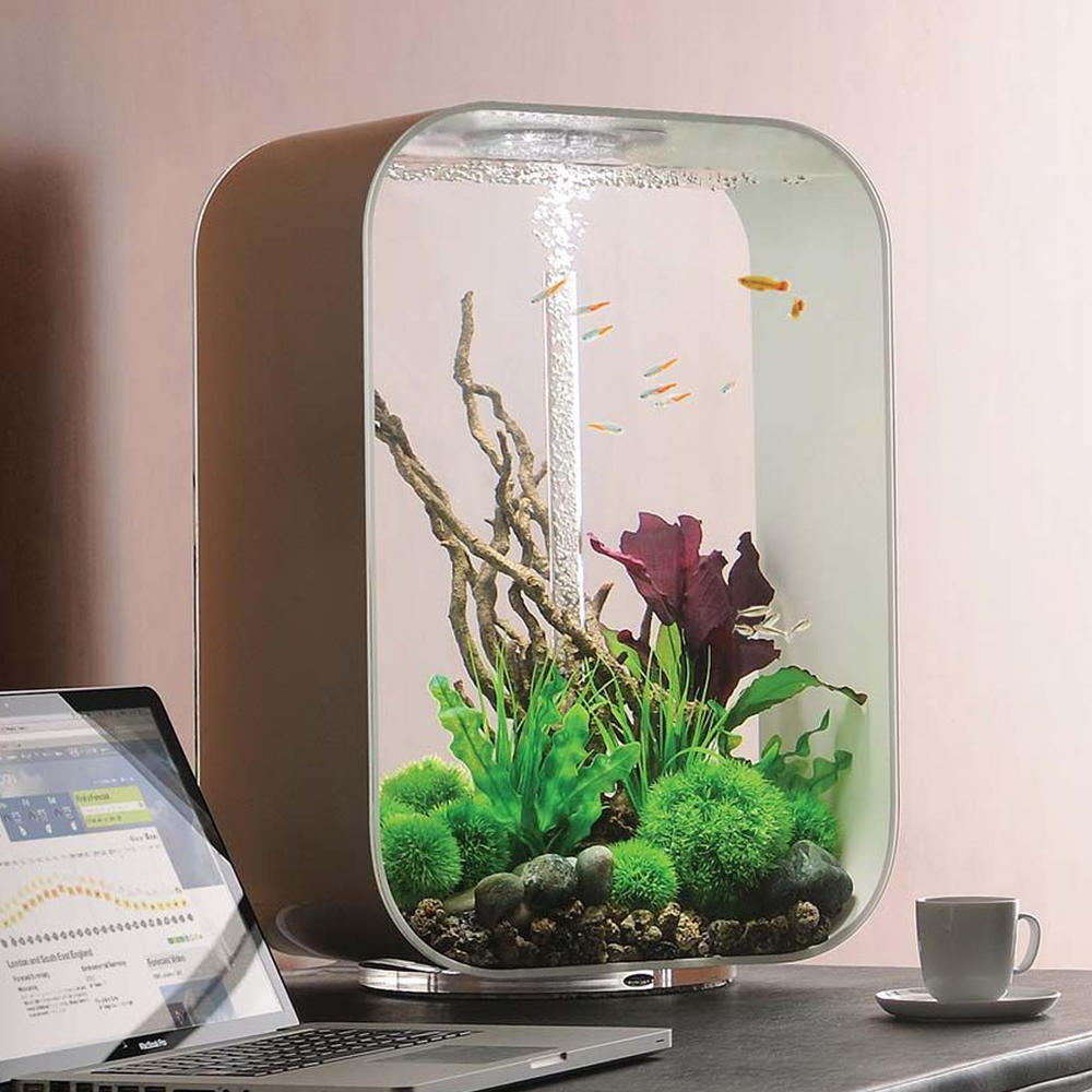 biorb life 60l white aquarium with intelligent led lighting. Black Bedroom Furniture Sets. Home Design Ideas