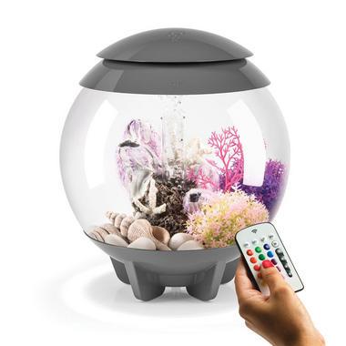 BiOrb Halo 15L Grey Aquarium with MCR Lighting