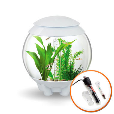 BiOrb Halo 15L White Aquarium with MCR Lighting and Heater Pack