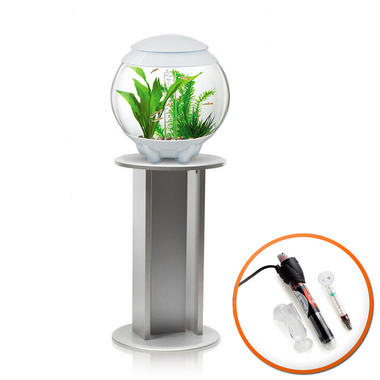 BiOrb Halo 15L White with MCR Lighting, Heater & Silver Stand