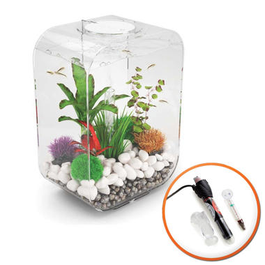 BiOrb LIFE 15L Clear with Multi Colour LED Light and Heater