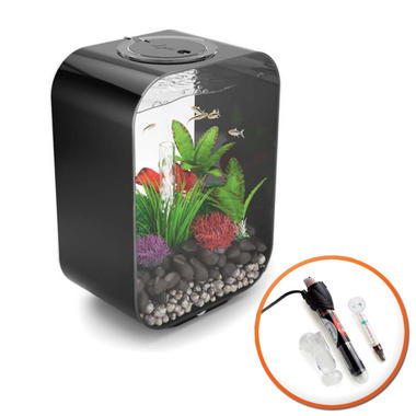 BiOrb LIFE 15L Black Fish Tank with LED Lighting & Heater