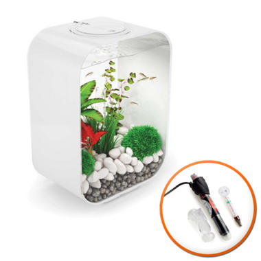 BiOrb LIFE 15L White Fish Tank with LED Lighting & Heater