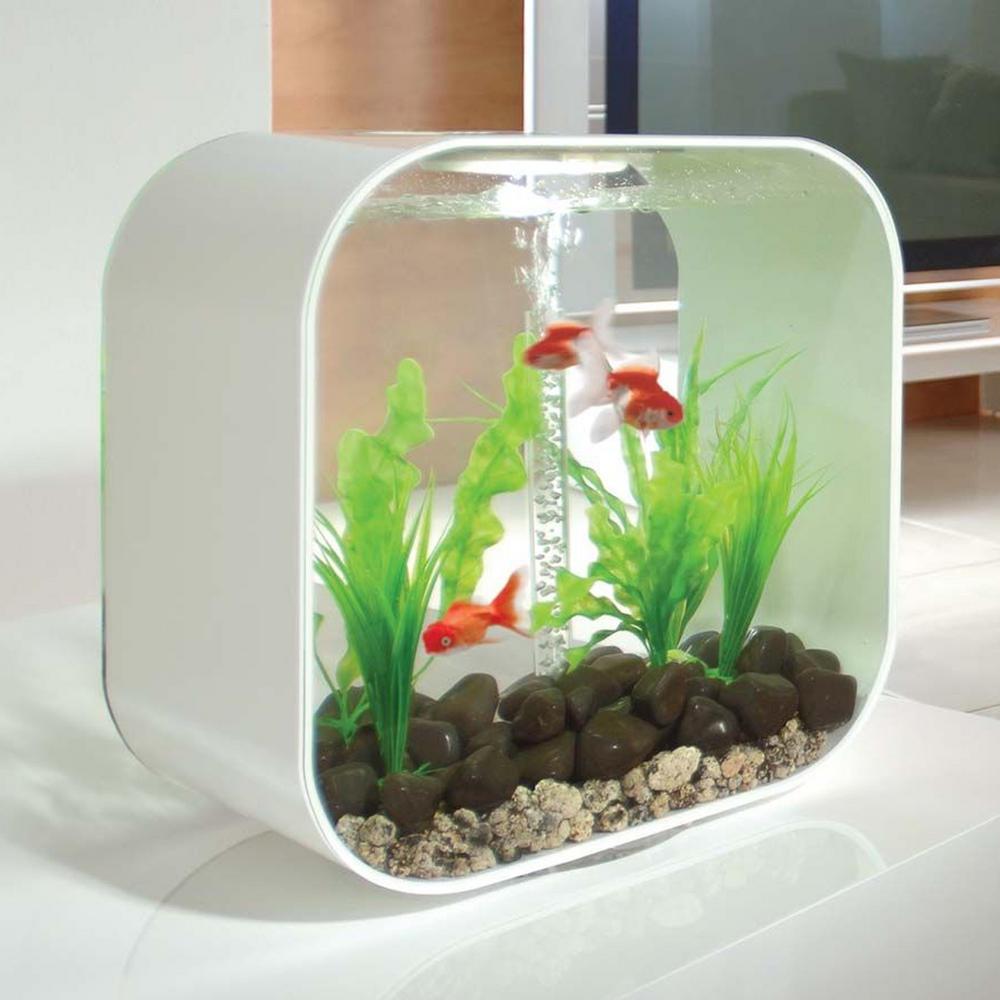 Biorb Life 30l White Fish Tank With Mcr Led Lighting Amp Heater