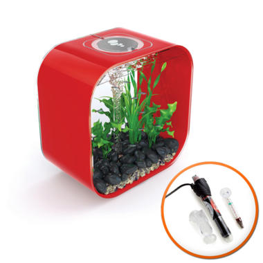 BiOrb LIFE 30L Chilli Red Fish Tank with Intelligent LED Lighting & Heater