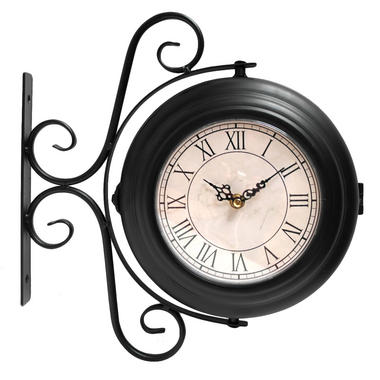 Vintage Double Faced Station Wall Clock