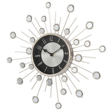 Home Satellite Silver Wall Clock