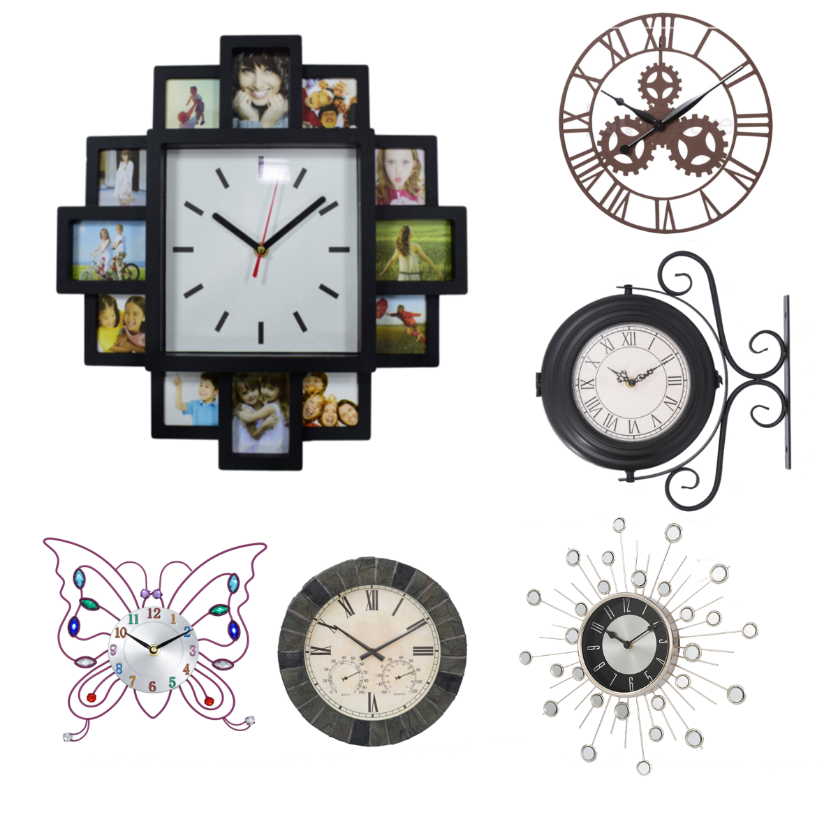 Home Indoor Wall Clock Decorative Vintage Classic House Modern Style