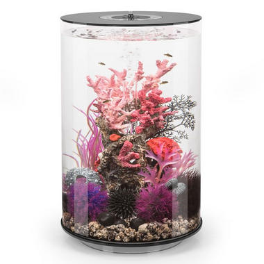 BiOrb Tube 30L Black Aquarium with Standard LED Lighting