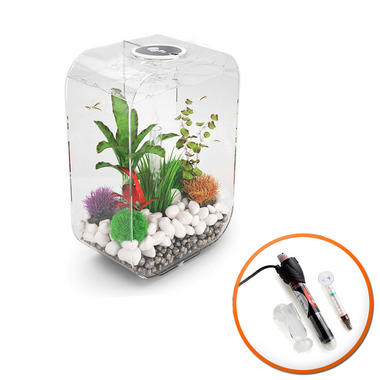 BiOrb Life 45L Clear Aquarium with MCR LED Lighting and Heater Pack