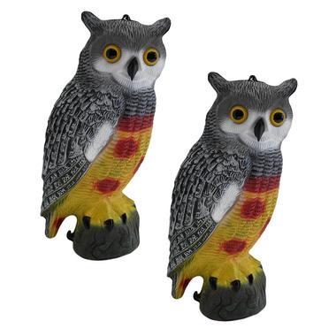 Pisces Twin Pack Decorative Decoy Owls
