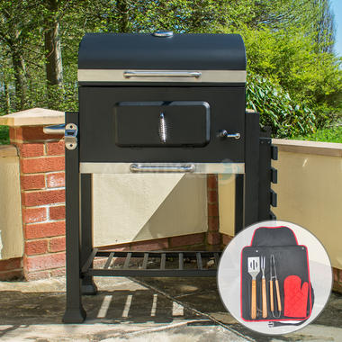 Deluxe Charcoal BBQ Grill with Tool Set