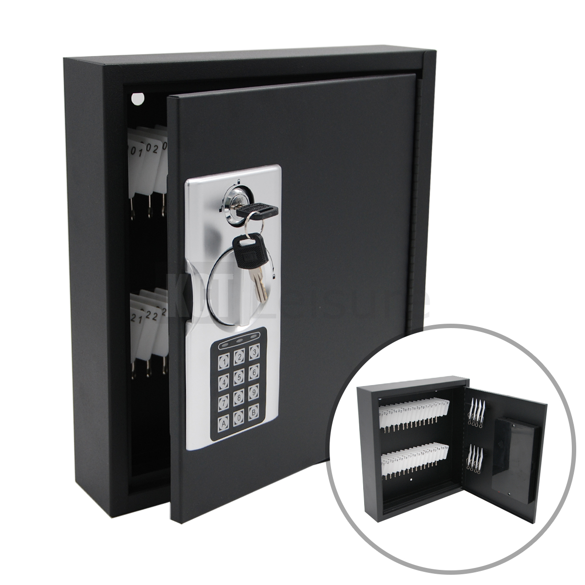 home wall mounted digital 40 key cabinet secure box safe lockable office store ebay. Black Bedroom Furniture Sets. Home Design Ideas