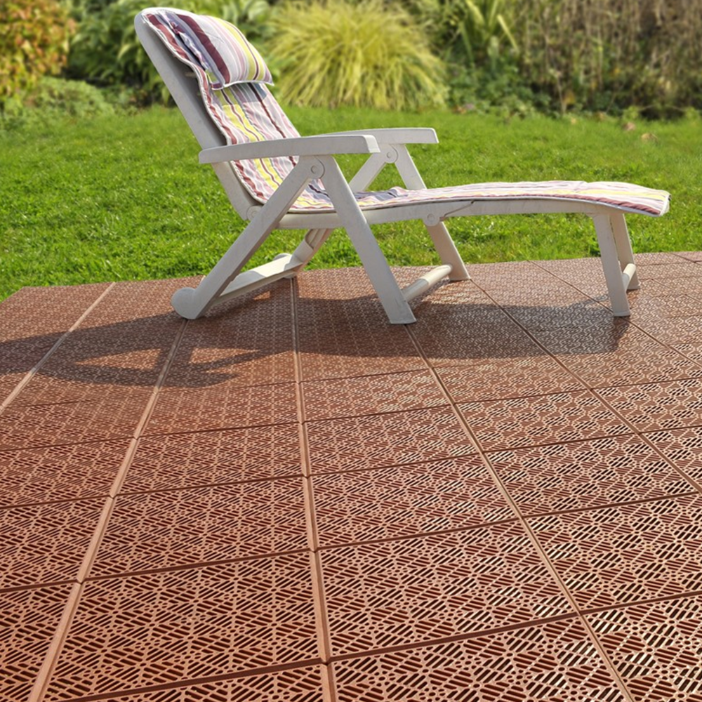 terracotta garden path and patio decking interlocking tiles. Black Bedroom Furniture Sets. Home Design Ideas