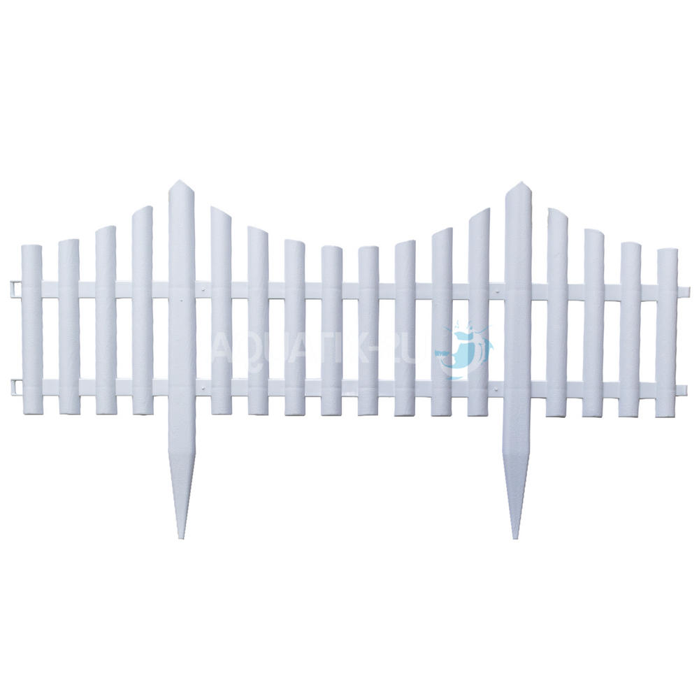 White Picket Fence Garden Border Pack Of 8 Panels