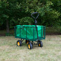 Extra Large Heavy Duty Garden Trailer with Lining