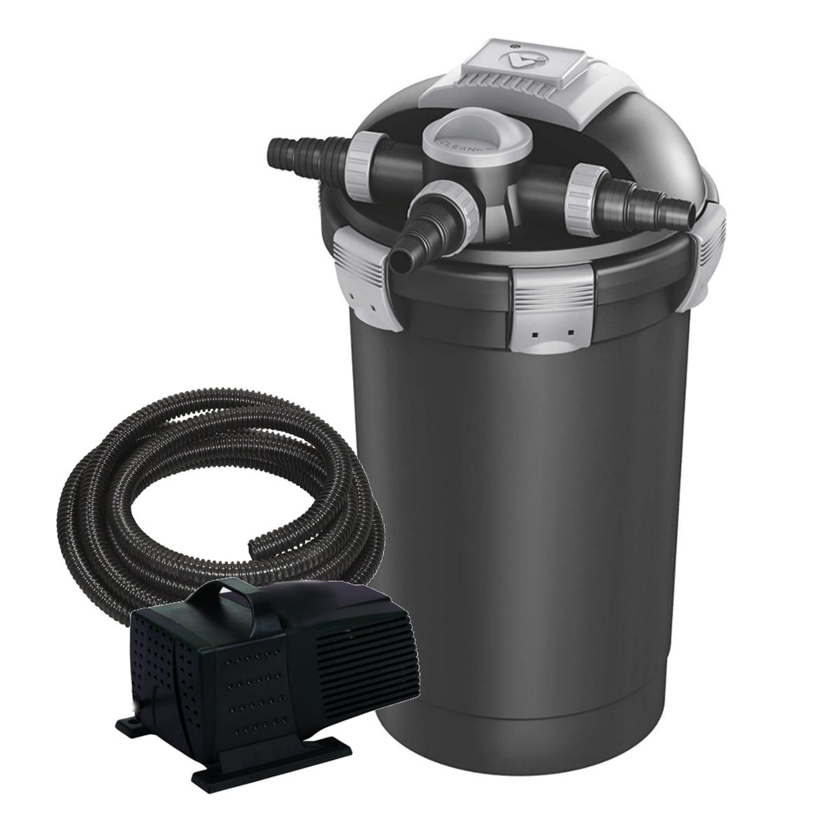 Velda vt vex 300 pond filter and pump set for Pond filter pump setup