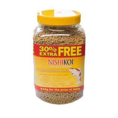 650g + 30% Extra - Nishikoi Wheatgerm Pellets (small)