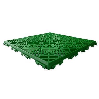 Green Garden Patch and Patio Decking Interlocking Tiles