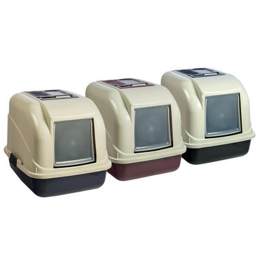 Large Enclosed Hooded Cat Litter Tray With Filter