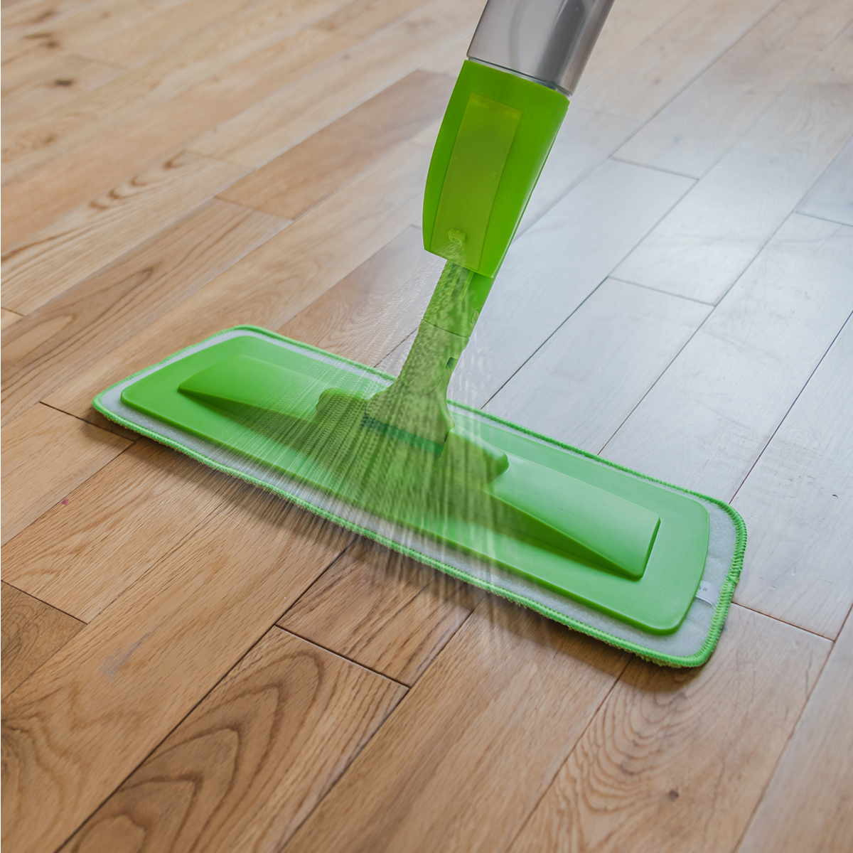 Green Floor Spray Mop Microfibre Water Spraying Home
