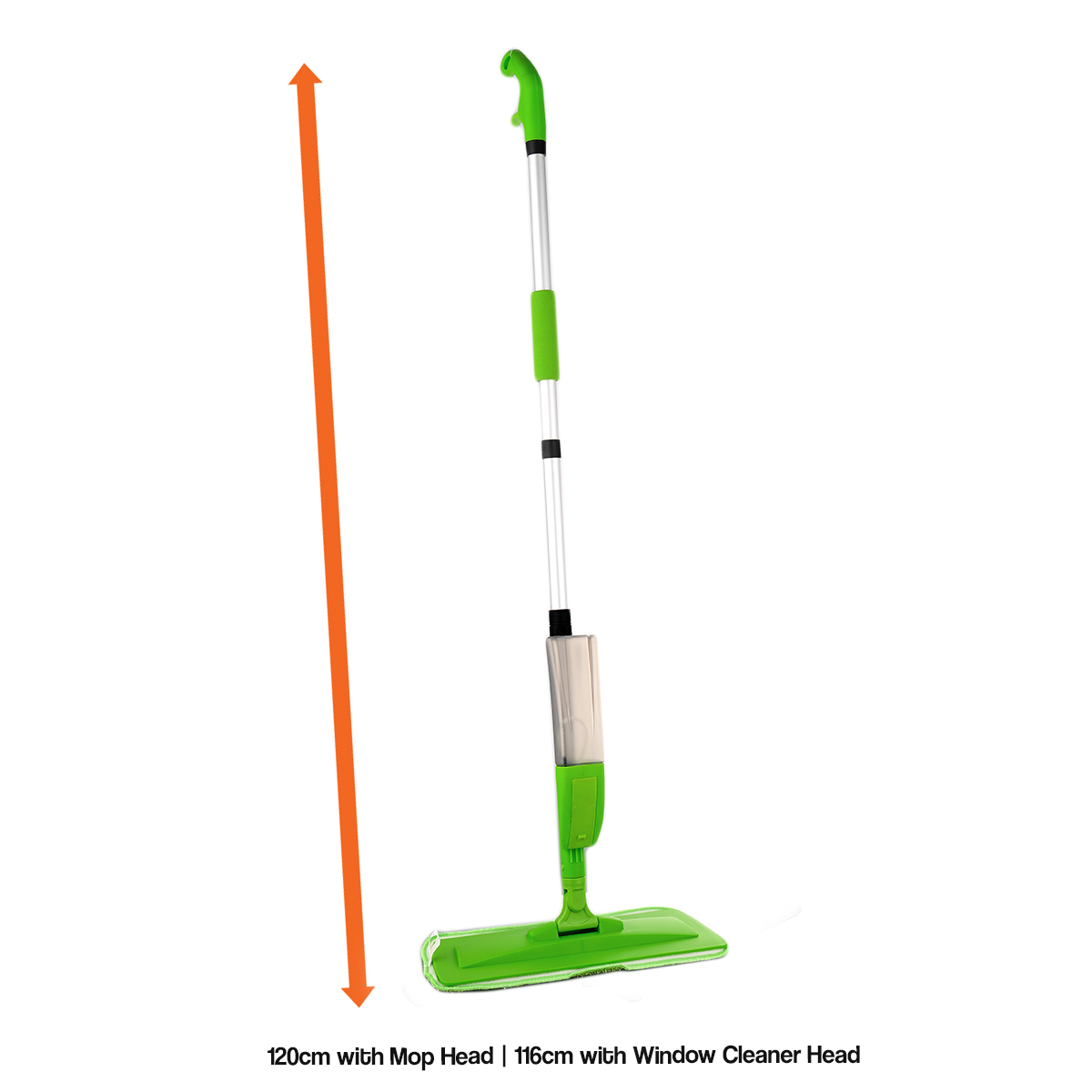 GREEN FLOOR SPRAY MOP MICROFIBRE WATER SPRAYING HOME KITCHEN FLOOR ...