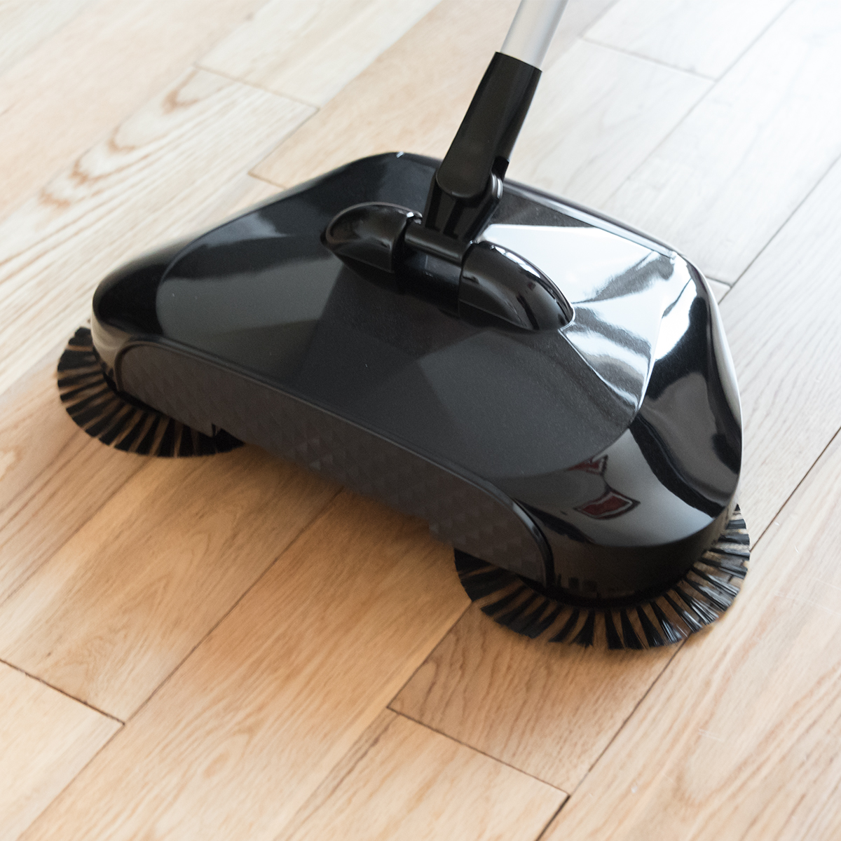 Sentinel Kct Black Hand Push Floor Sweeper Triple Brush Household Automatic Cleaner Broom