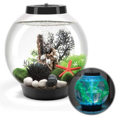 Baby BiOrb 15L Black Aquarium with Moonlight LED Lighting