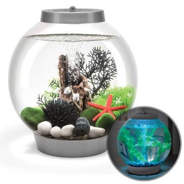 Baby BiOrb 15L Silver Aquarium with Moonlight LED Lighting