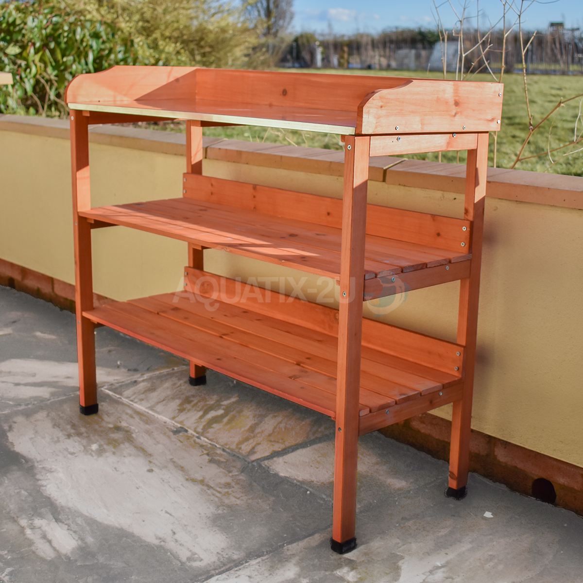 Garden Potting Bench: 3 Tier Wooden Garden Potting Bench