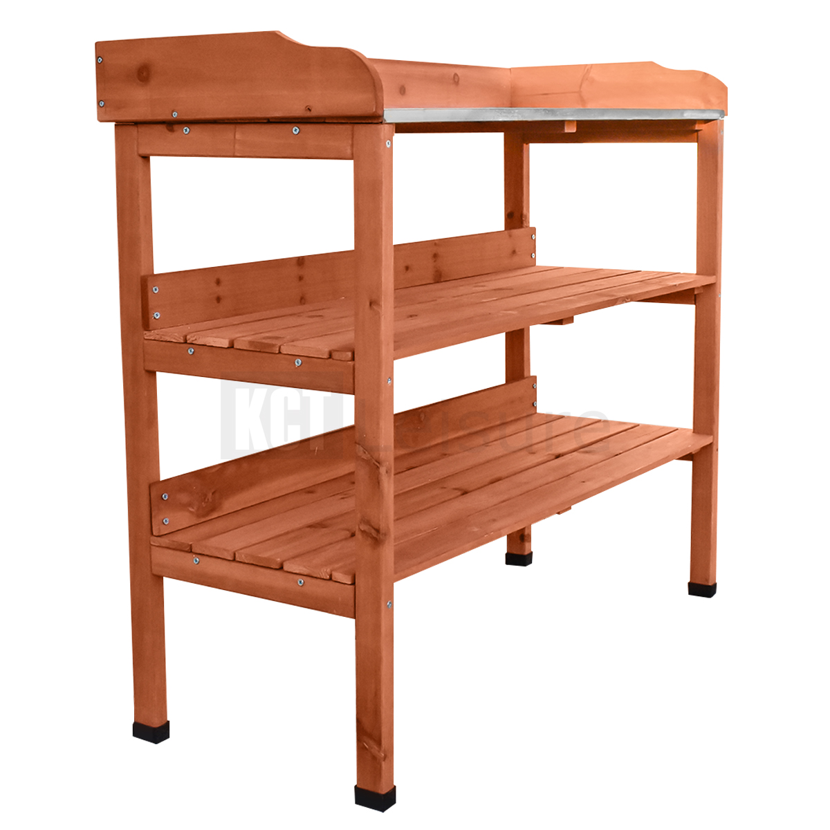 prepare table shelves garden bench itm with storage plant kct potting soil wooden tier