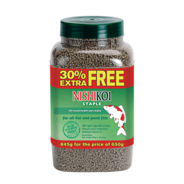 650g +30% Extra Fill Nishikoi Staple Pellet (Small)