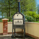 Outdoor Wood Fired Pizza Oven with Weatherproof Cover