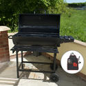 KCT Classic Barrel BBQ Grill & Smoker with Tool Set