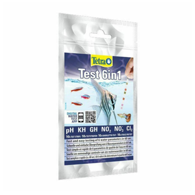 Tetra Aquarium 6 in 1 Test Kit - 10 Strip Pack