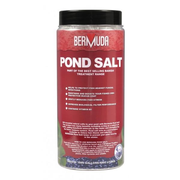 Bermuda banish toxins pond salt for Salt in koi pond