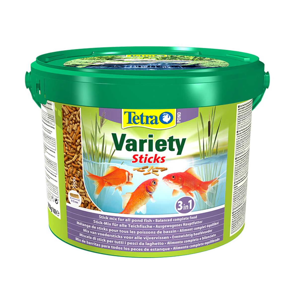 10 litre tetra pond variety sticks bucket floating koi food diet 1650g tetrapond ebay. Black Bedroom Furniture Sets. Home Design Ideas