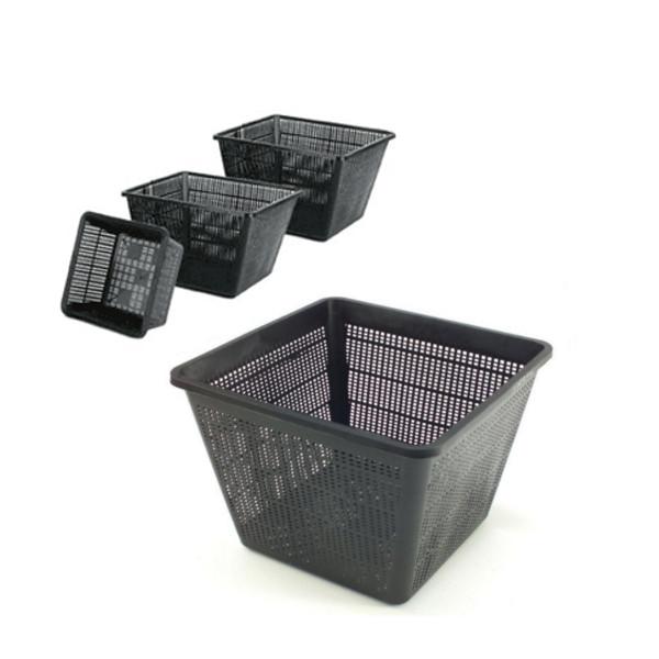 Square pond planting baskets koi fish aquatic garden for Plastic pond plants