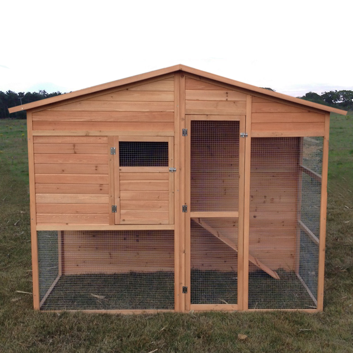 hutch with run chicken double a hutches