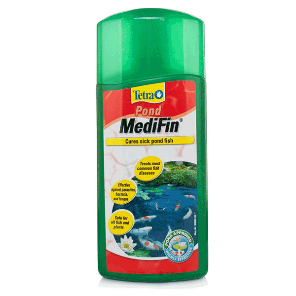 Tetrapond medifin treatment for Pond fish stocking calculator