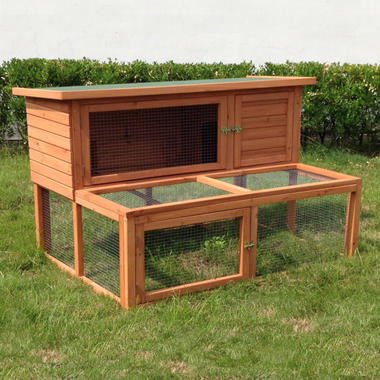 Ancona 4ft Rabbit Hutch with extended Run - Pisces