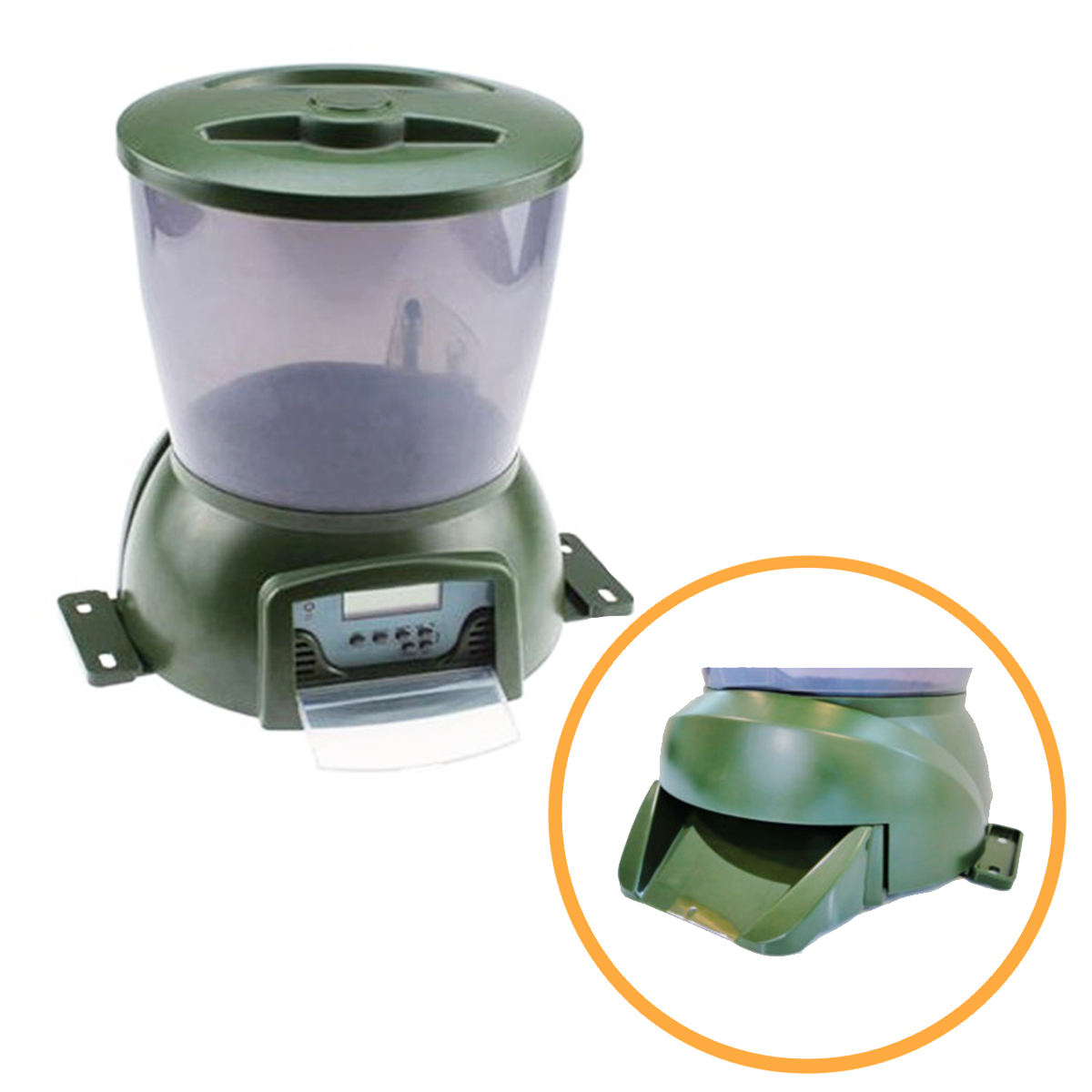 installation low and programmable automatic fish feeder operation timer for koi battery deal with pond voltage wire ksf