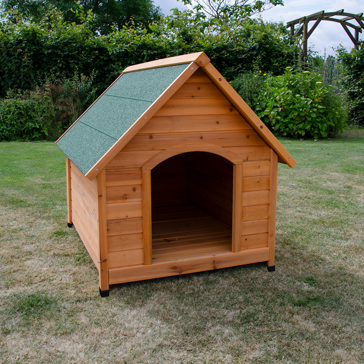 EXTRA LARGE WOODEN DOG KENNEL PET HOUSE OUTDOOR SHELTER