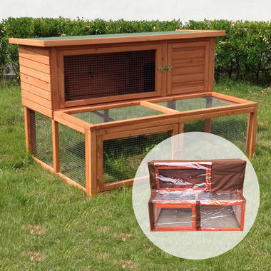 Ancona 4ft Hutch and Run Including Cover - Pisces