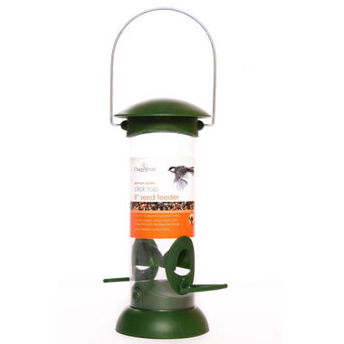 Chapelwood Click Top Seed Bird Feeder 8 Inch